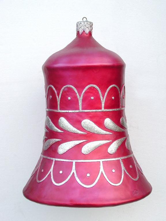 3' Ft Red Bell w/silver Trim