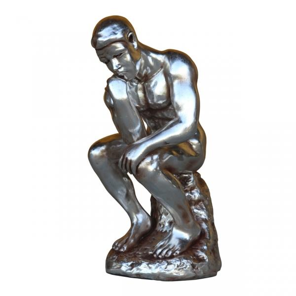 Thinking man 3 ft chrome