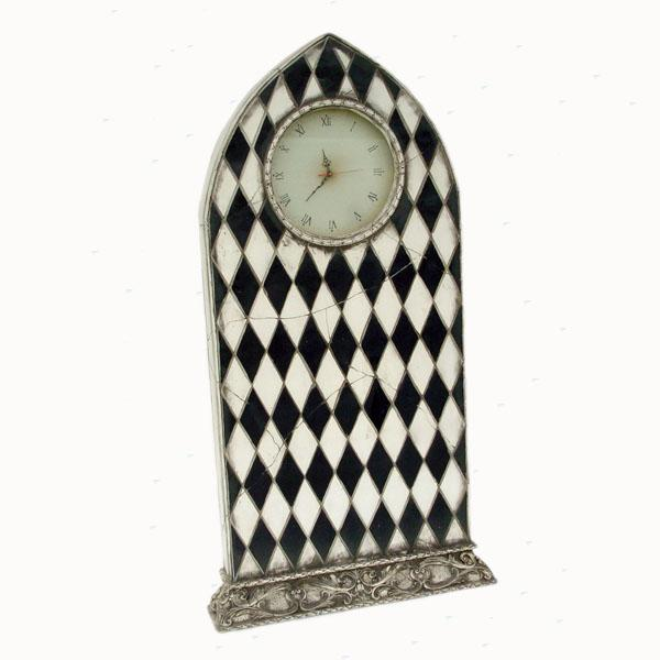 Clock standing 5 ft with diamond decor