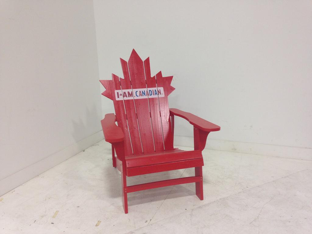 Wood Red Adirondack chair