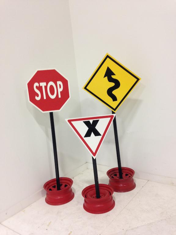 Assorted Signs on stands