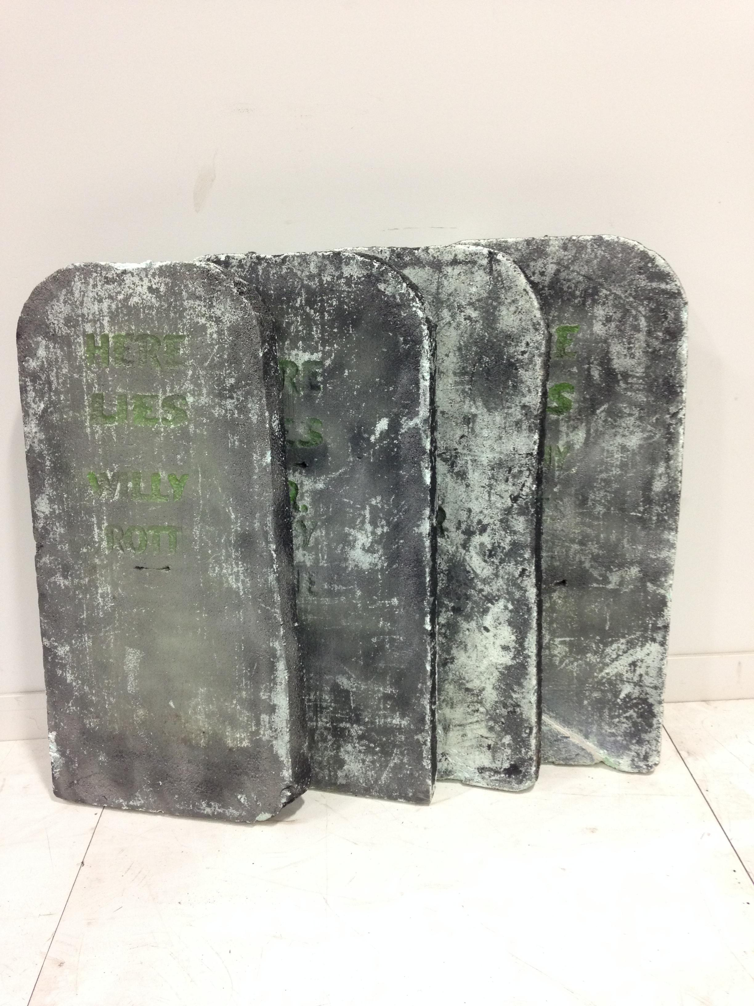 4 ft lge tombstones w/glow in the dark lettering