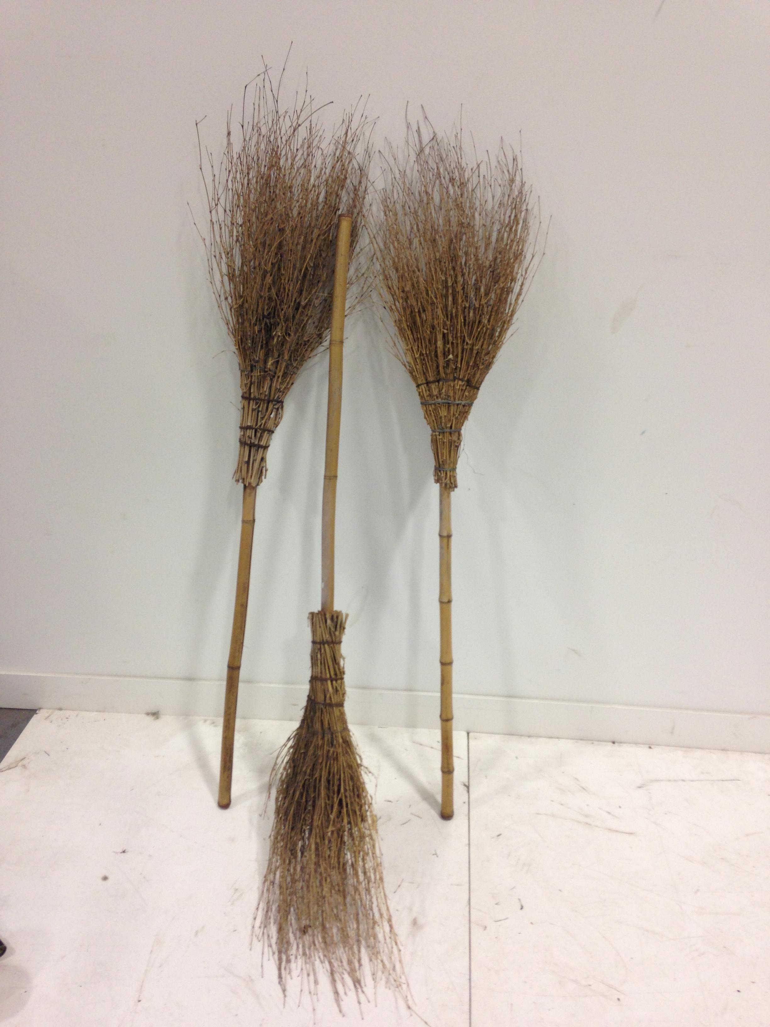 selection of witch brooms