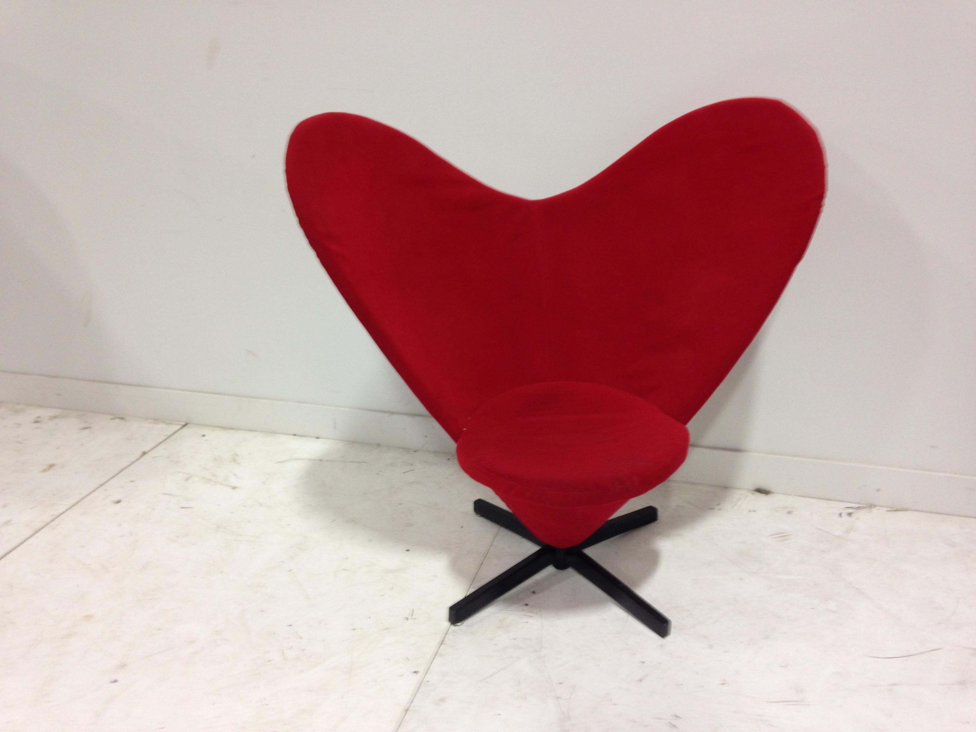 Red Heart Shaped Chair