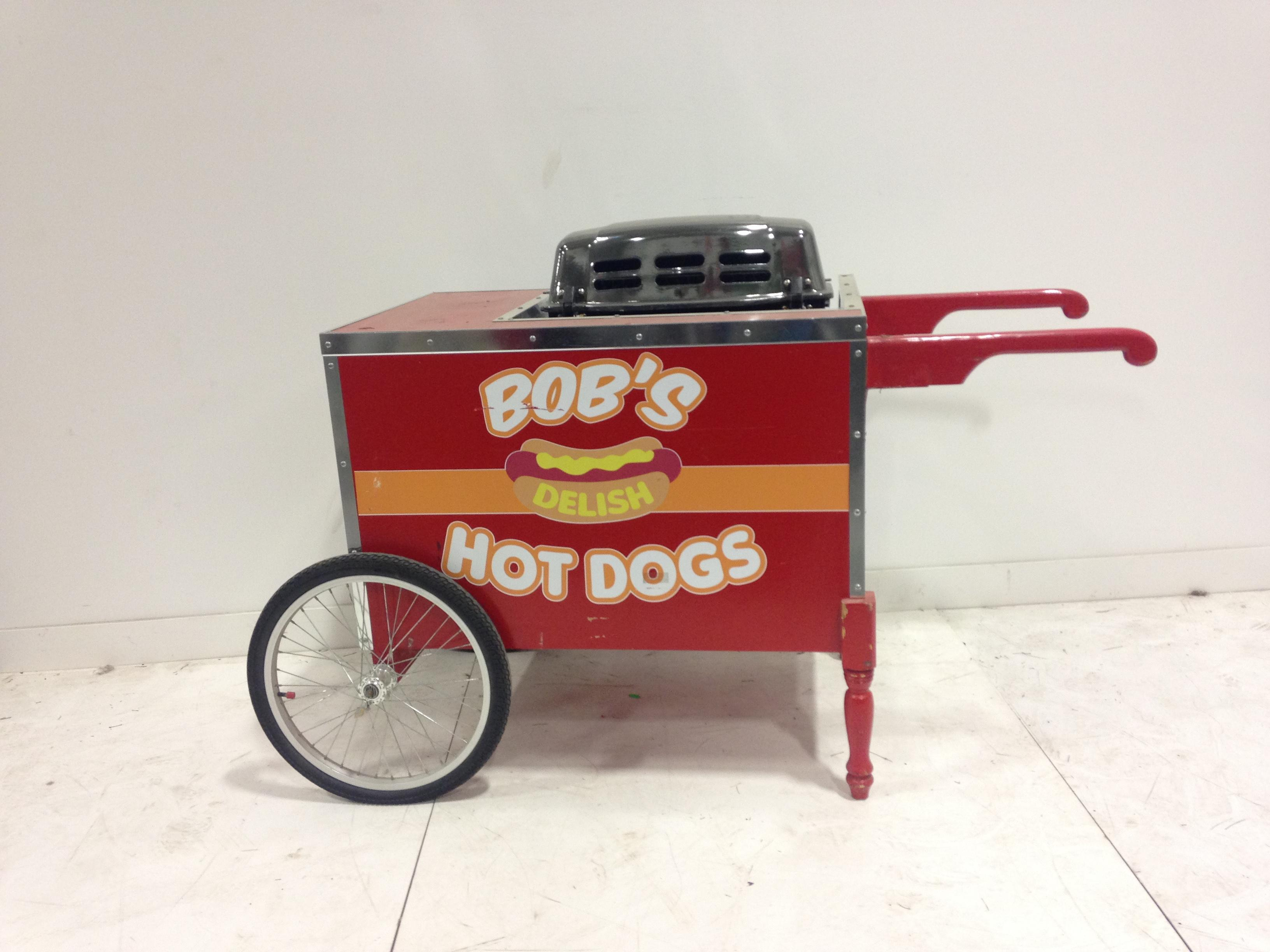 Hot Dog Cart w/barbecue