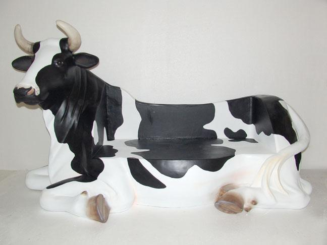 3' (tall) Cow Bench