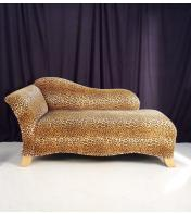 Yellow cheetah lounger