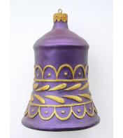 3' Ft Purple Bell with Gold Trim