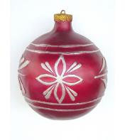 3' Ft Red Christmas ball with gold trim