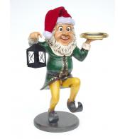 5' Ft Elf waiter with Lamp