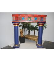 Egyptian Roman Pillar Arch Colourful