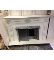 5 Ft White Fireplace