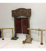 Saloon doors w/hitching post