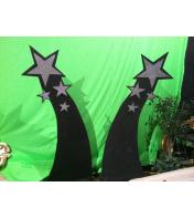 Black Showy Stars